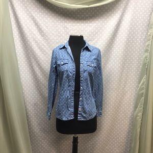 Polka Dot Jean Shirt